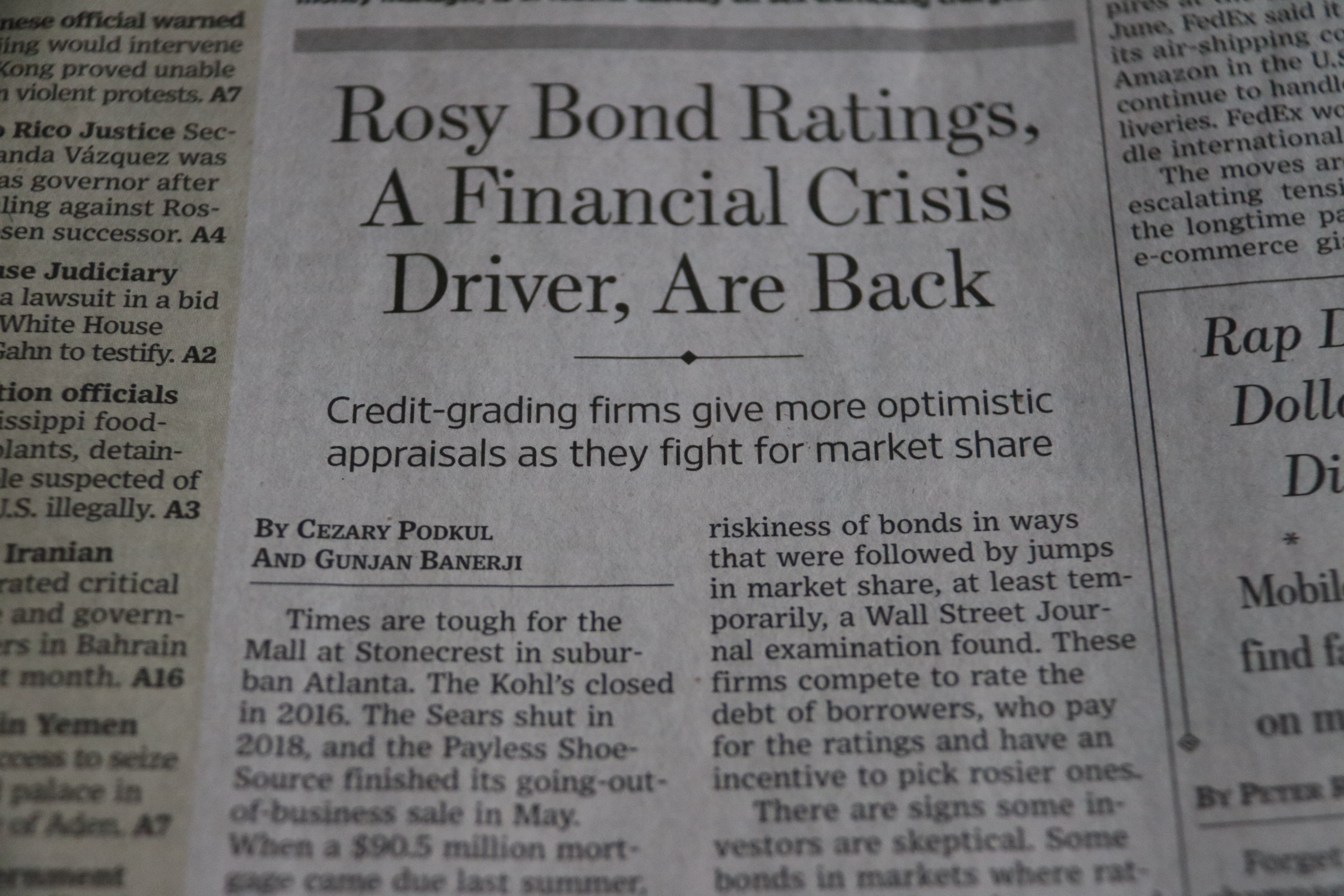 Inflated Bond Ratings